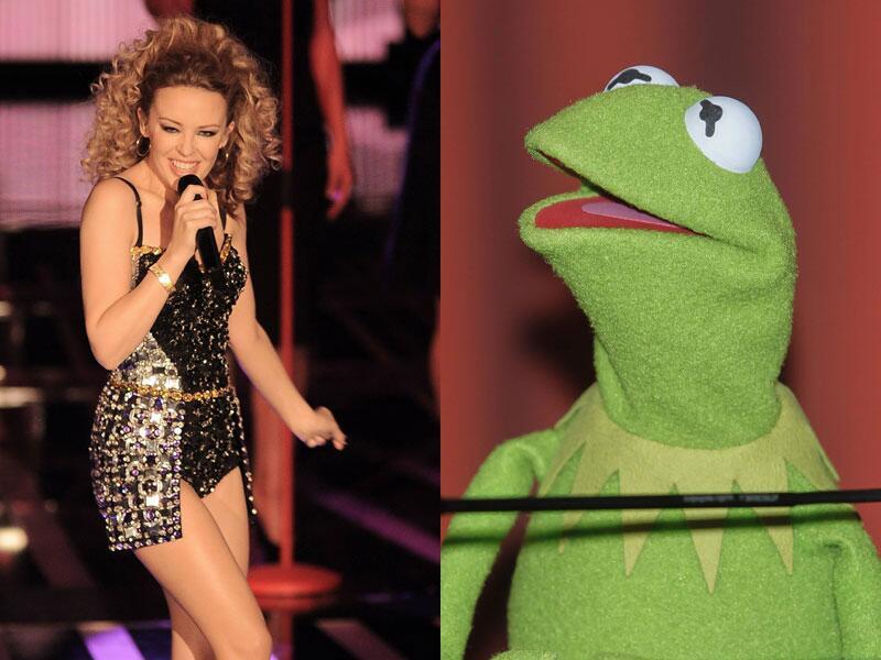 Bild zu Kylie Minogue und Kermit der Frosch