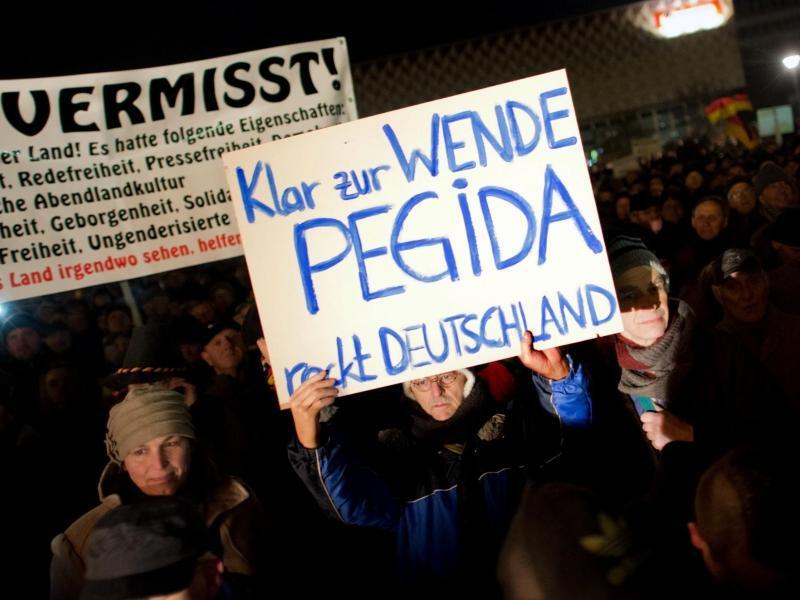 Bild zu «Pegida»-Demonstration