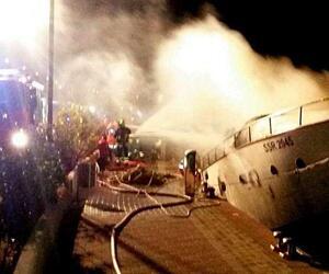 Blaze aboard a yacht in Marina di Loano
