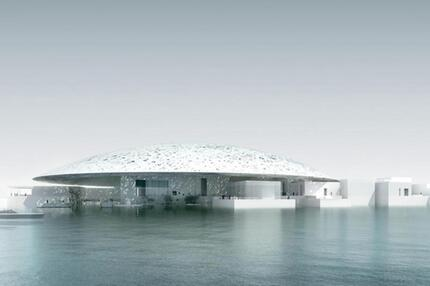 Modell vom Louvre in Abu Dhabi