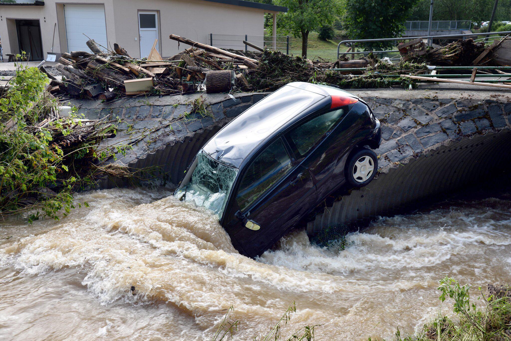 Bild zu Unwetter in Rheinland-Pfalz