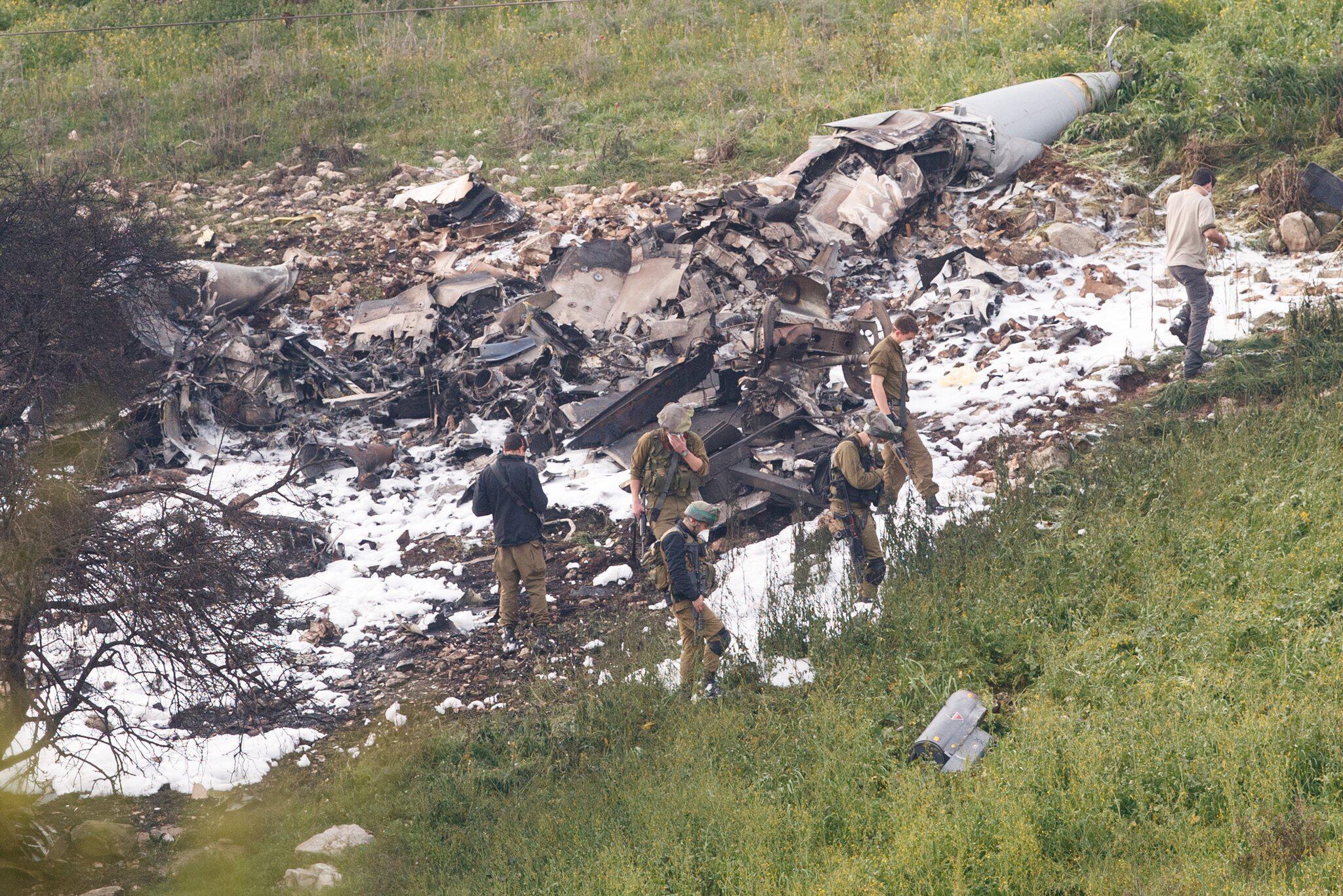 Bild zu Israelischer Jet abgestürzt