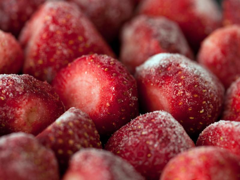 Bild zu Tiefgefrorene Erdbeeren