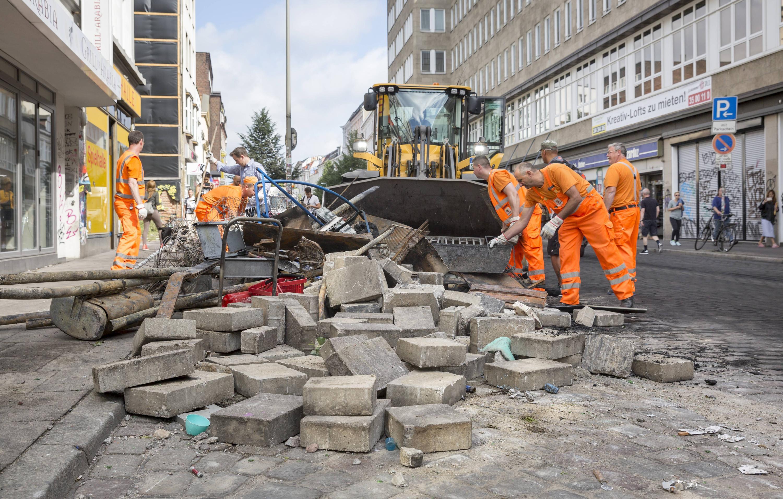 Bild zu Hamburg, G20, Trümmer, Sternschanze