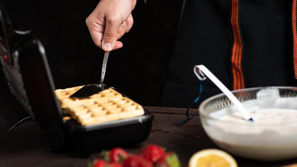 waffeln, waffeleisen, cupcake, muffin, cupcake-maker, backen, küche, haushalt, essen