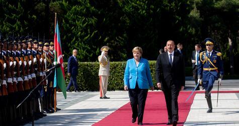 German Chancellor Angela Merkel visits Azerbaijan
