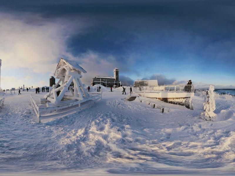 Bild zu Eis- und Schneelandschaft