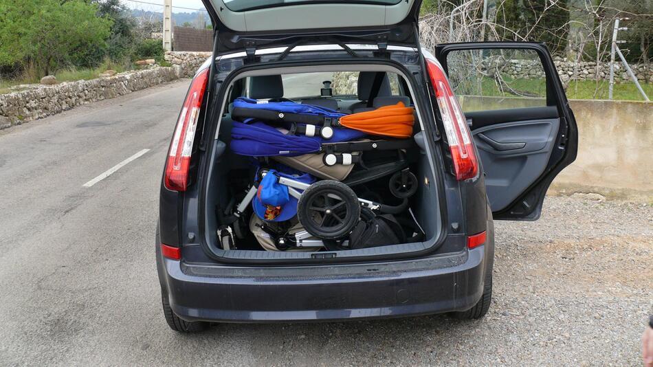 Kinderwagen, Kofferraum