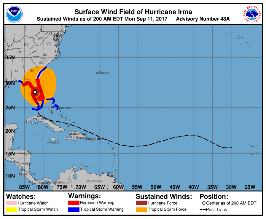 Hurrikan, Hurrikan irma, Irma, Wind, Bundesstaat, Florida, Alabama, Georgia