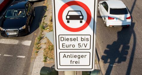 Fahrverbot für bestimmte Diesel-Fahrzeuge