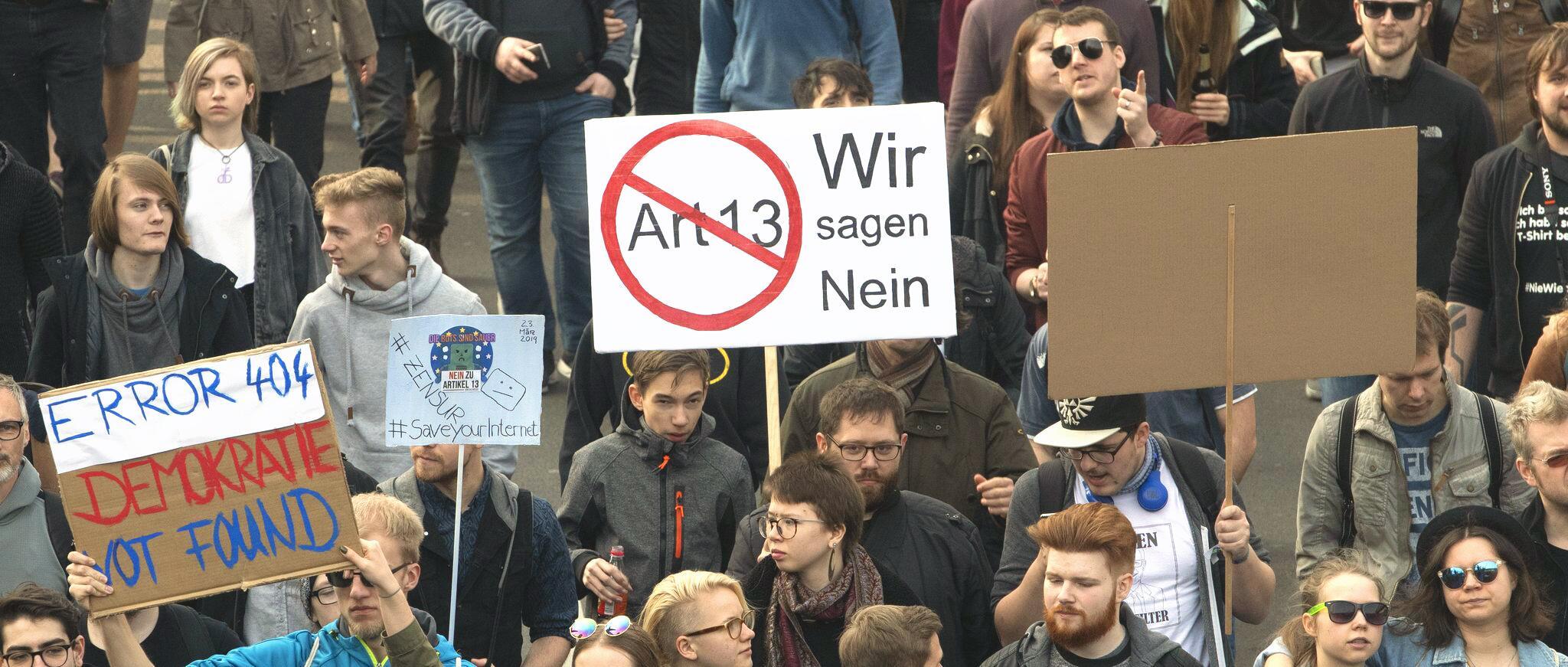 Bild zu Protest gegen neues Urheberrecht - Berlin