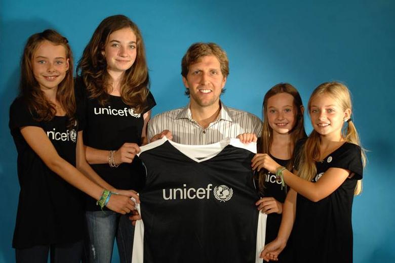 Bild zu Nowitzki Unicef