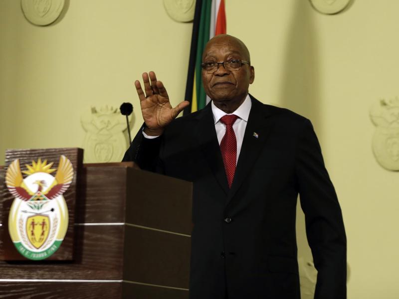 Bild zu Zuma tritt zurück