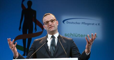 German Health Minister Spahn's first day at work in Berlin