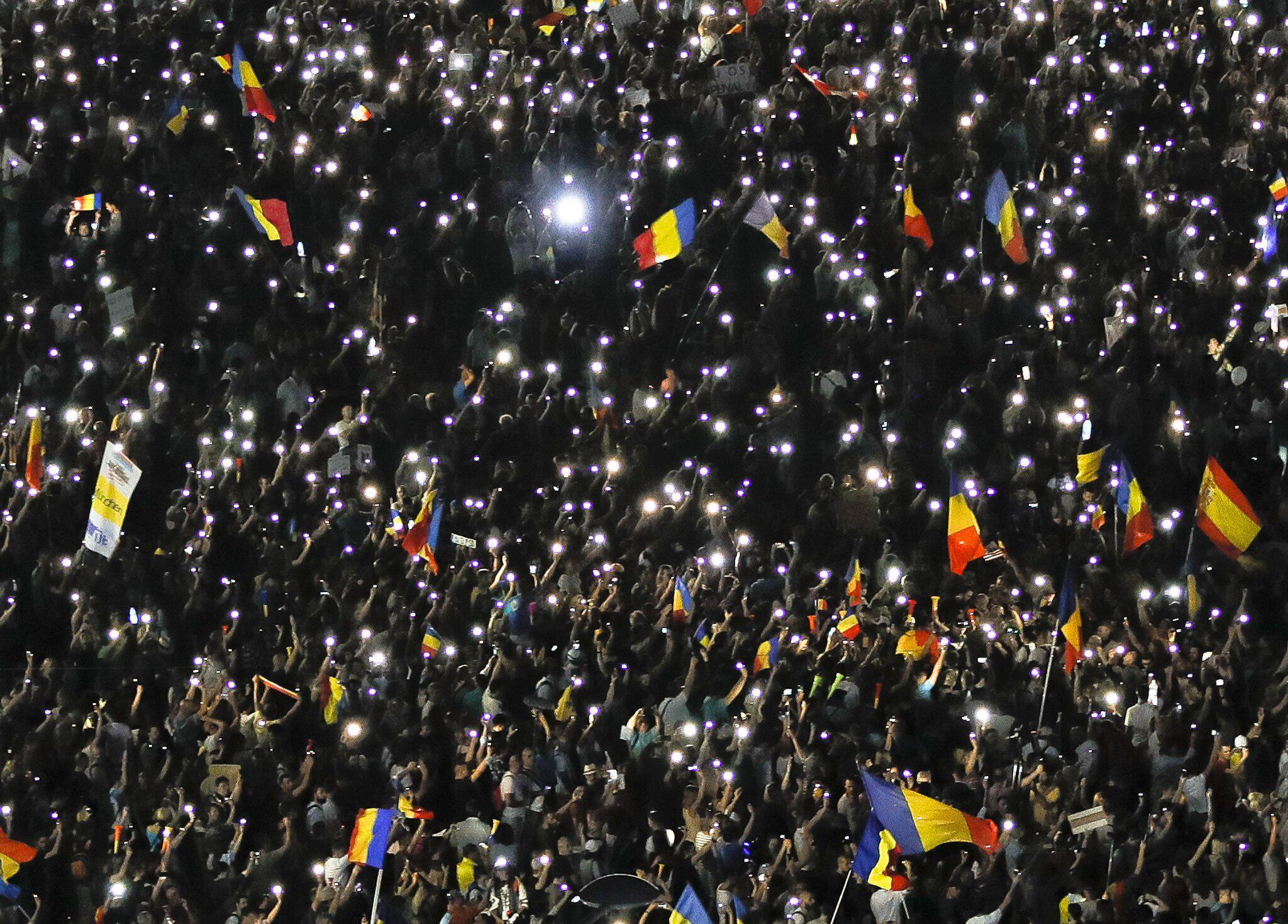 Bild zu Proteste in Rumänien - 2. Tag