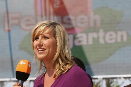 Der ZDF-Fernsehgarten mit Moderatorin Andrea Kiewel.