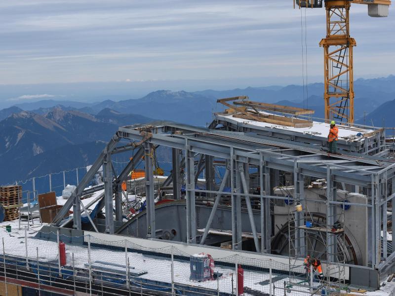 Bild zu Baustelle auf der Zugspitze