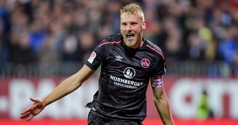 Holstein Kiel - 1. FC Nürnberg, Hanno Behrens, 2. Bundesliga, Torjubel, 31. Spieltag