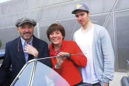 Rosi Mittermaier, Felix Neureuther, Christian Neureuther