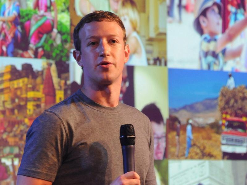 Bild zu Mark Zuckerberg in Indien