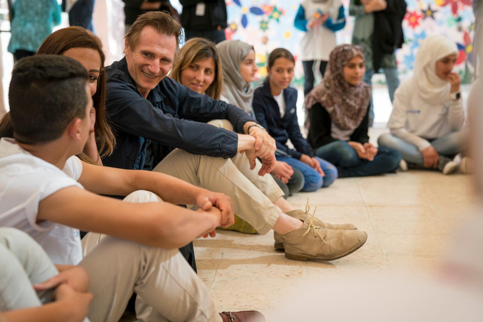 Bild zu Liam Neeson, UNICEF, Jordanien
