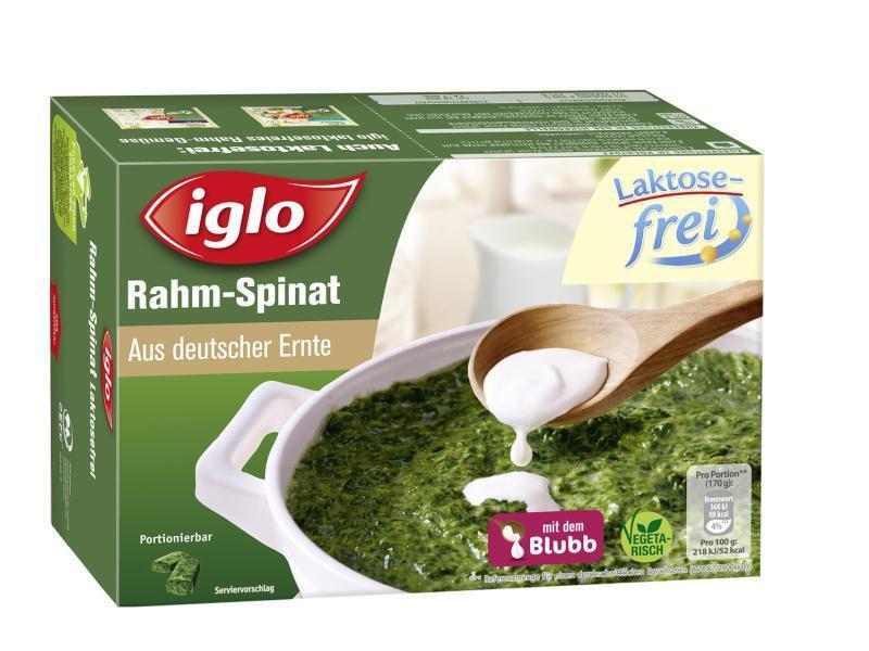 Bild zu Laktosefreier Rahm-Spinat von Iglo