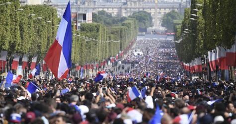 Empfang der französischen Nationalmannschaft