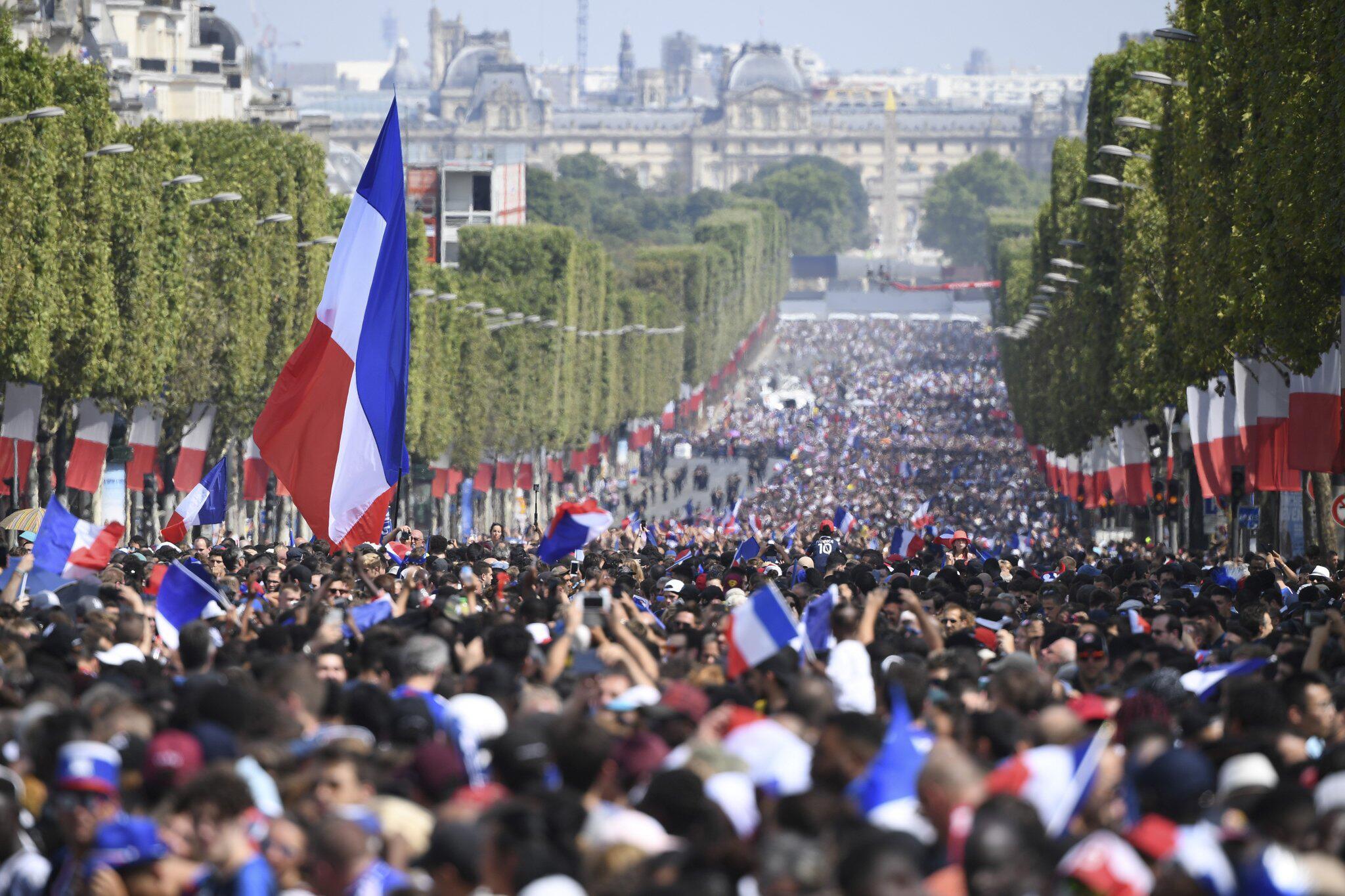 Bild zu Empfang der französischen Nationalmannschaft
