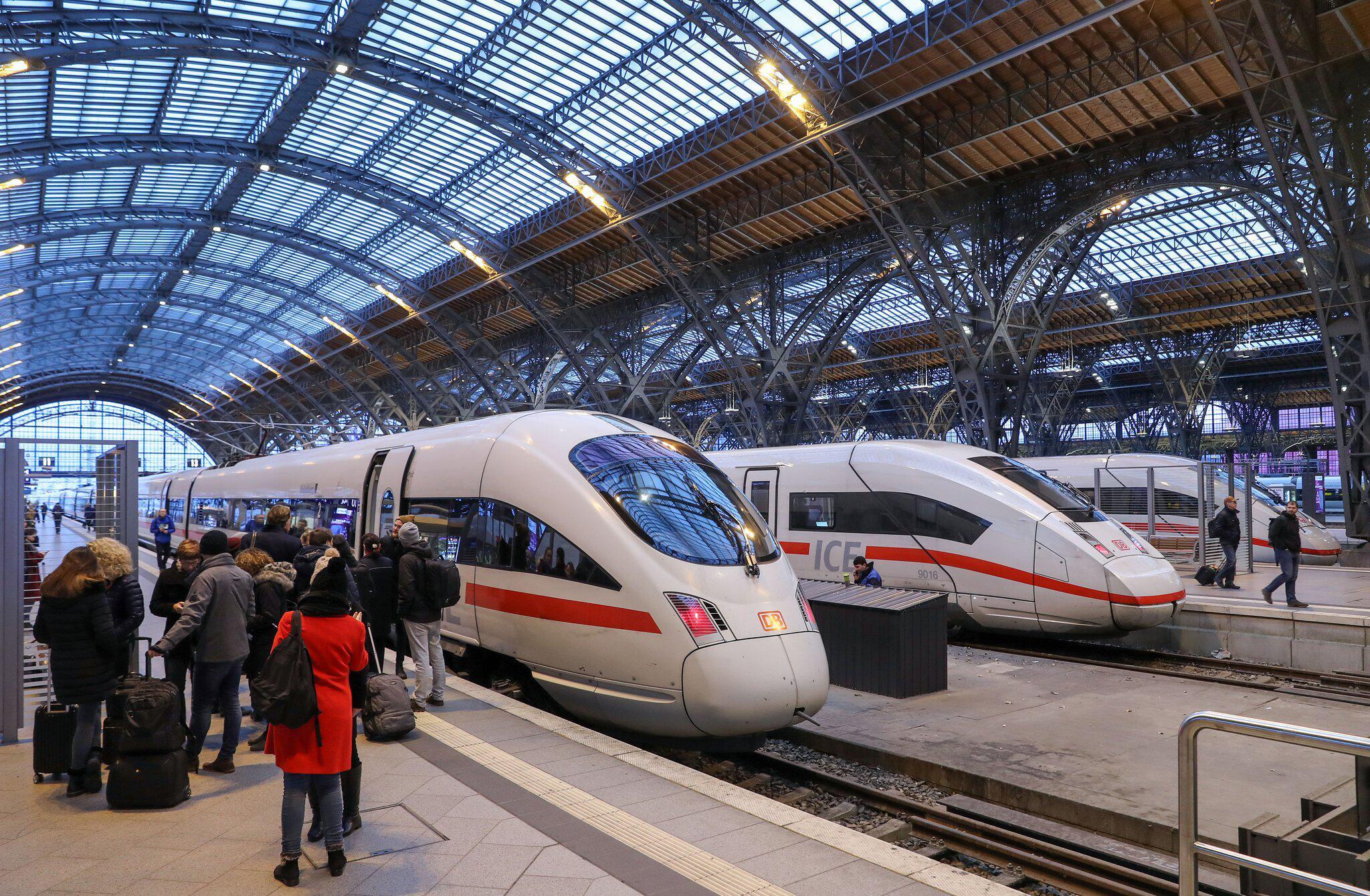 Bild zu Deutsche Bahn, DB, Hauptbahnhof, Bahnhof, Leipzig, ICE