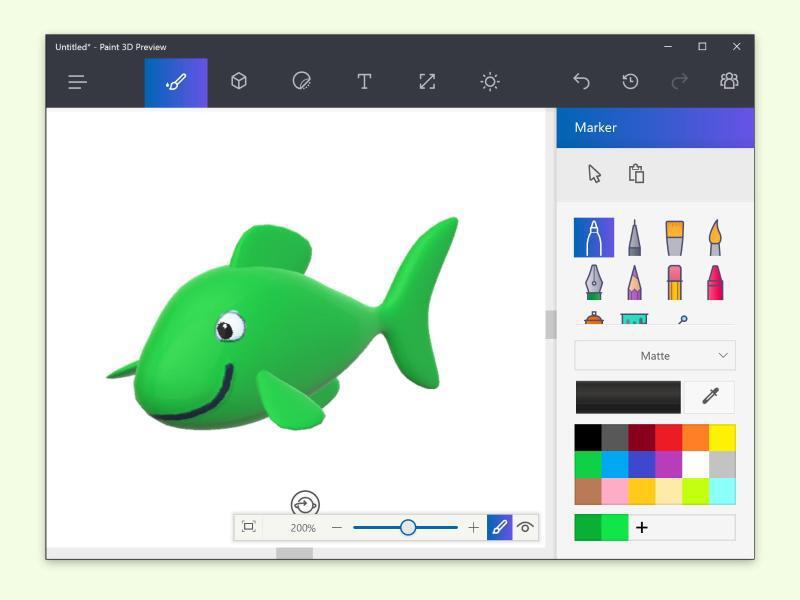 Bild zu Paint 3D