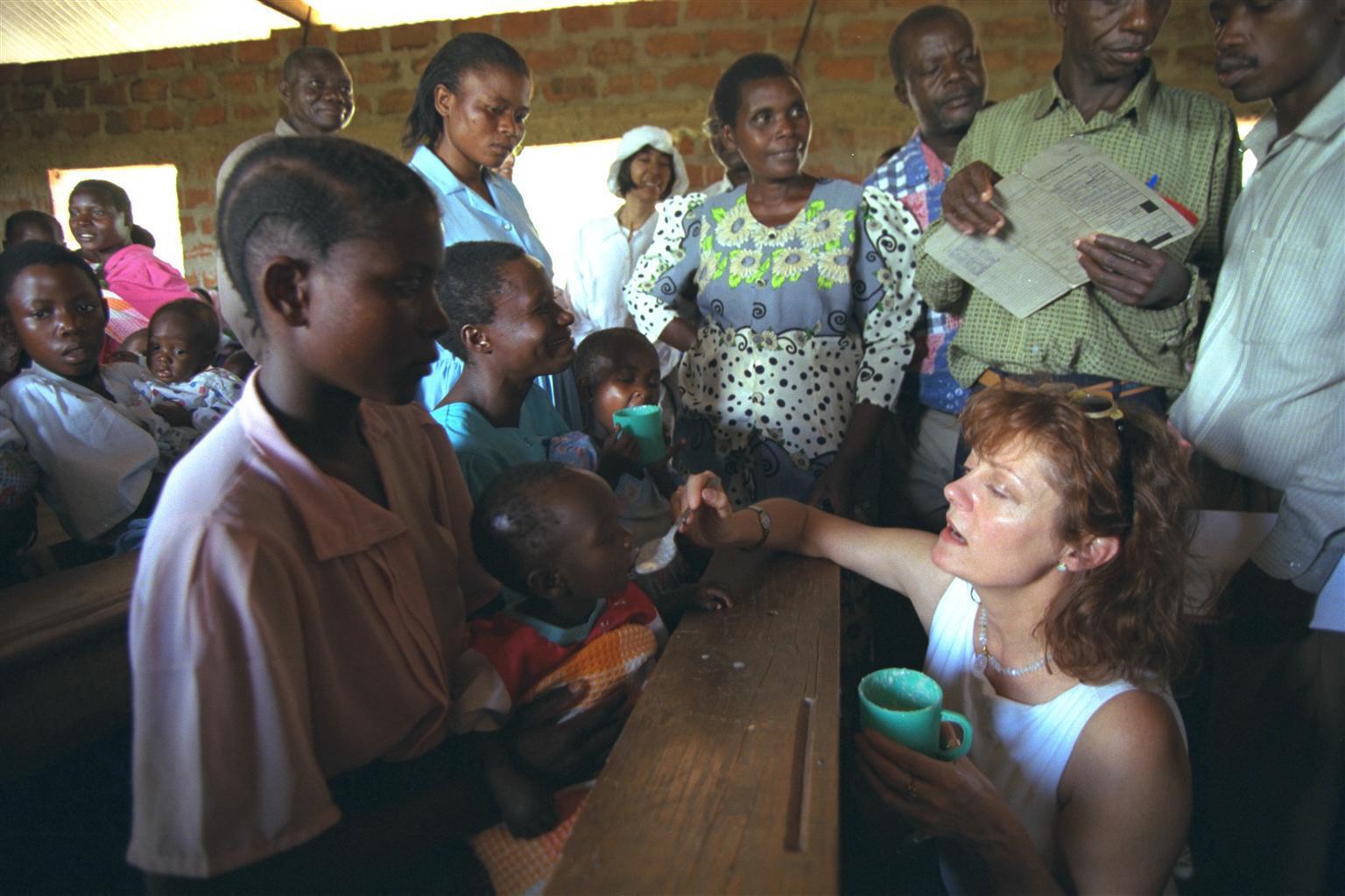 Bild zu Susan Sarandon, UNICEF, Tansania