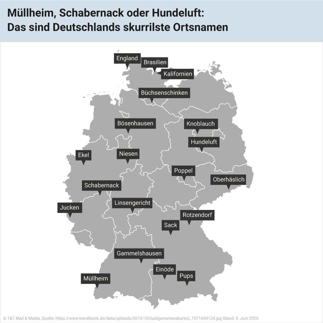 Bild zu Müllheim, Schabernack oder Hundeluft: Das sind Deutschlands skurrilste Ortsnamen