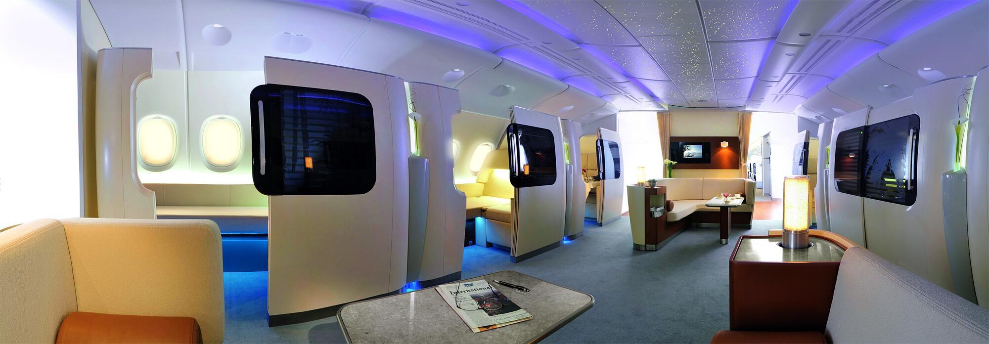 Bild zu Airbus A380 Interieur