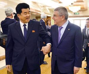 IOC-Präsident Bach zu Besuch in Nordkorea