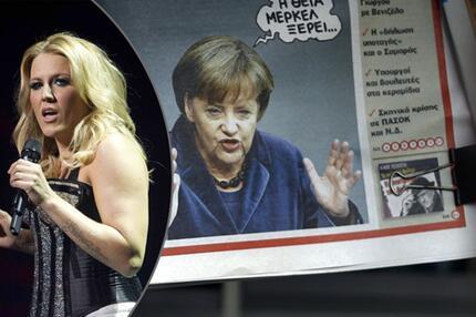 Natalie Horler und Angela Merkel