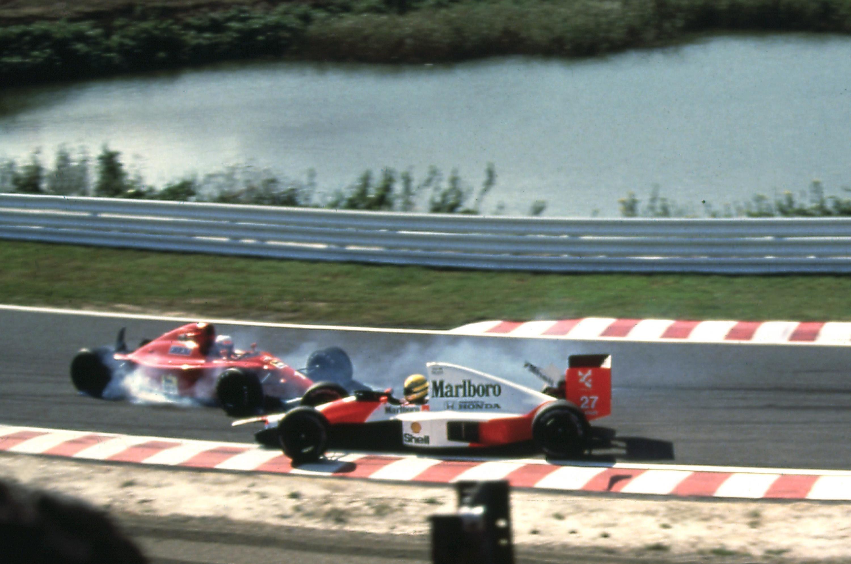 Bild zu McLaren MP4/5, Alain Prost, Ayrton Senna, Ferrari, McLaren, Suzuka, Japan, 1990
