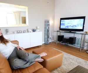 Fernsehgerät im Wohnzimmer