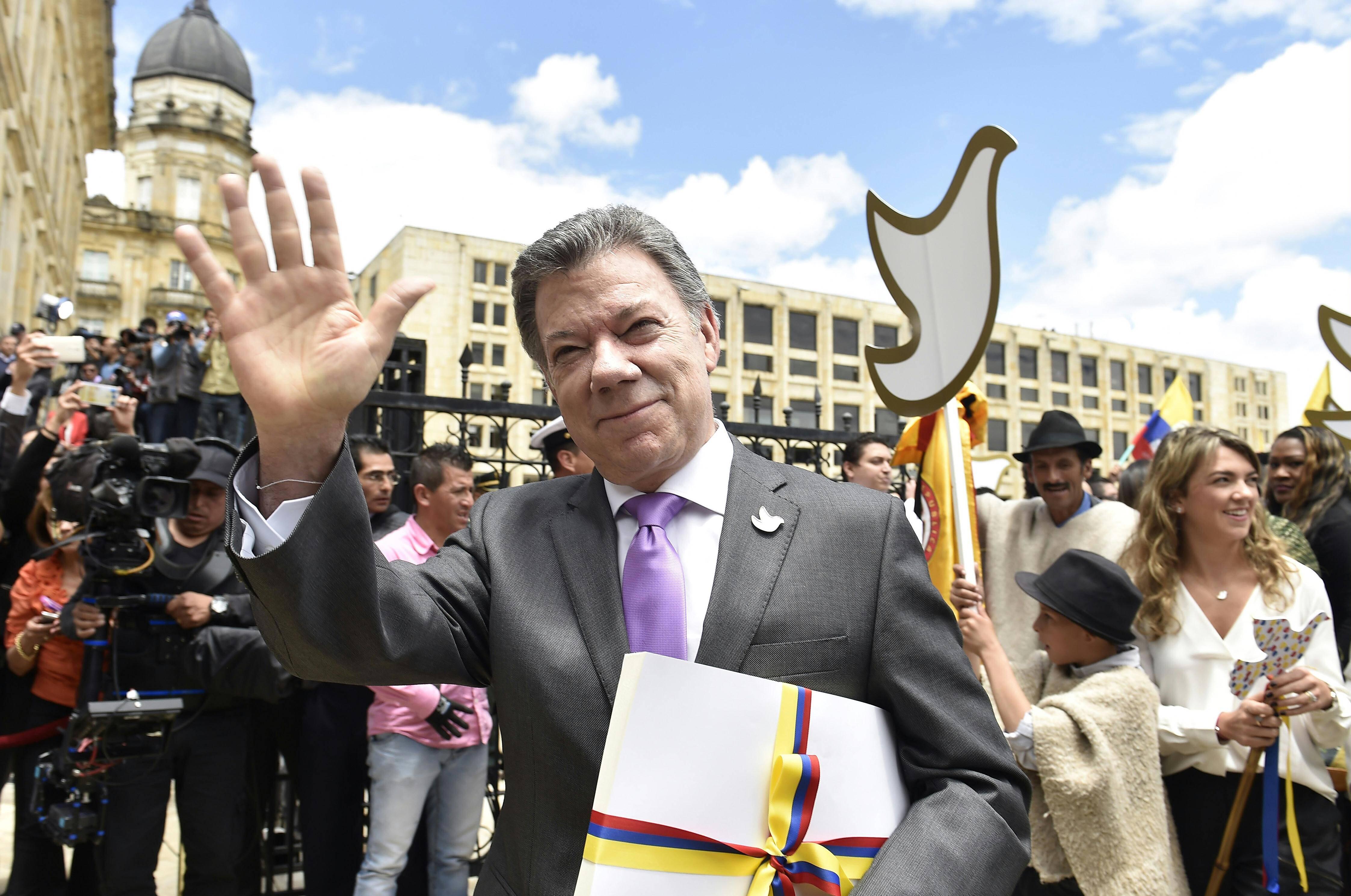 Bild zu Juan Manuel Santos, Präsident, Friednesnobelpreis, Kolumbien