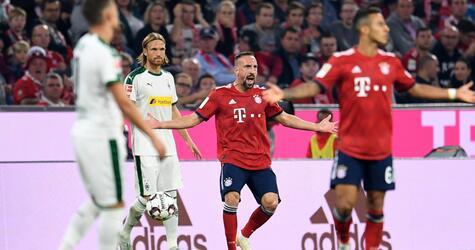 Bayern München - Borussia Mönchengladbach, Franck Ribéry, Michael Lang