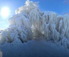 Chicago, Eis, Bäume, Frost, Schnee, Kälte, bizarre Gebilde
