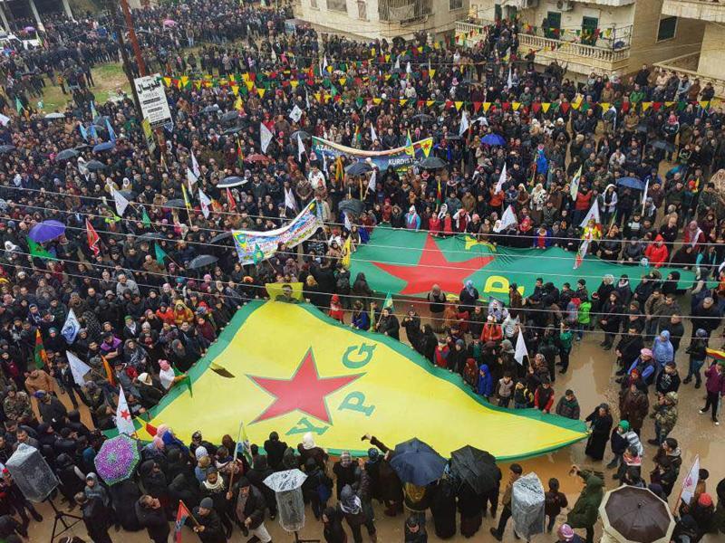 Bild zu Demonstration in Afrin