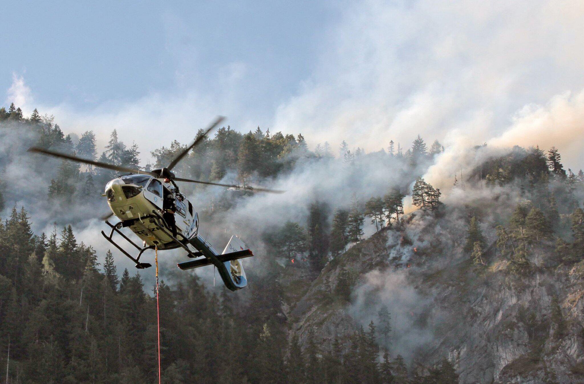 Bild zu Forest fire in mountain forest in Inntal valley