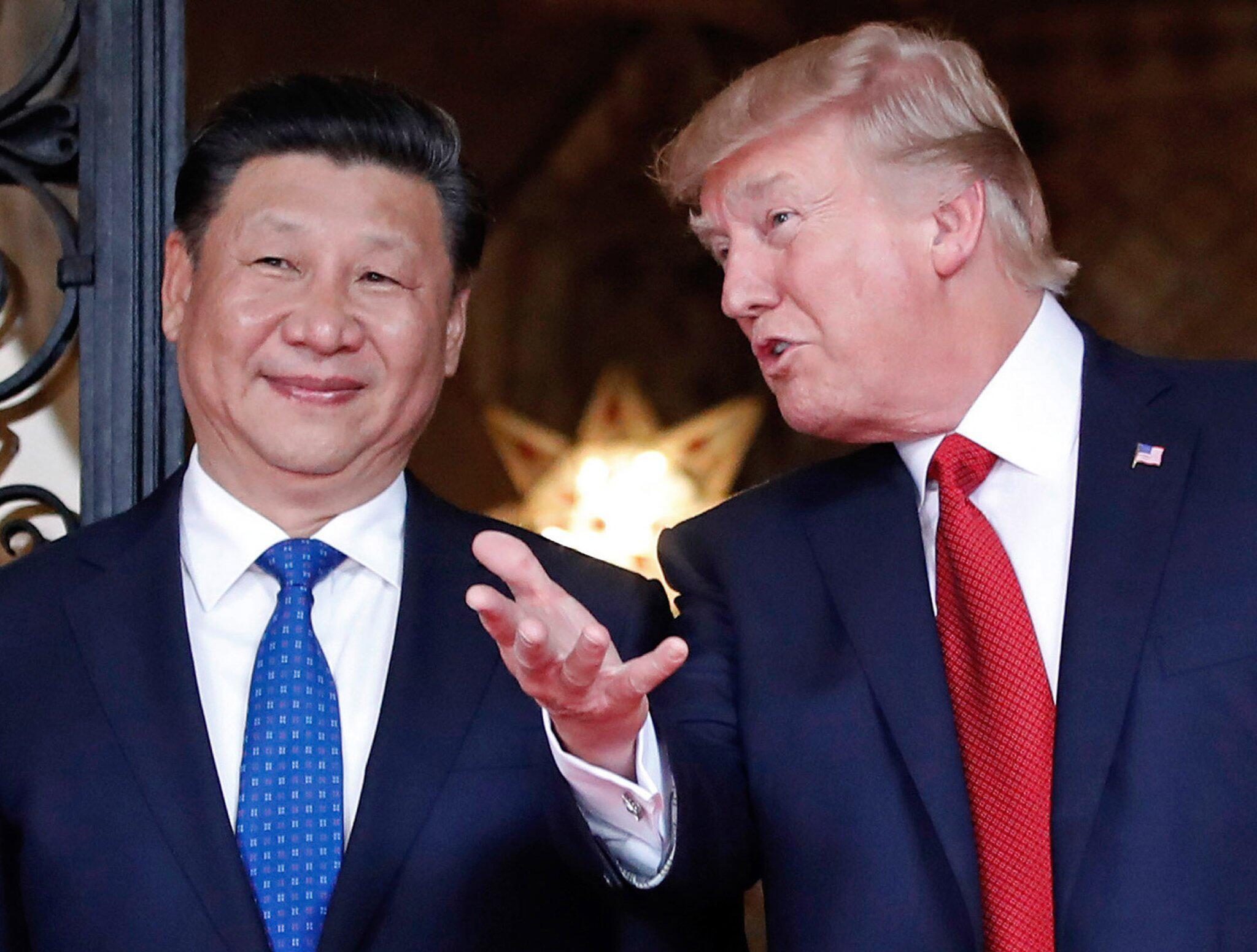 Bild zu Donald Trump and Xi Jingping