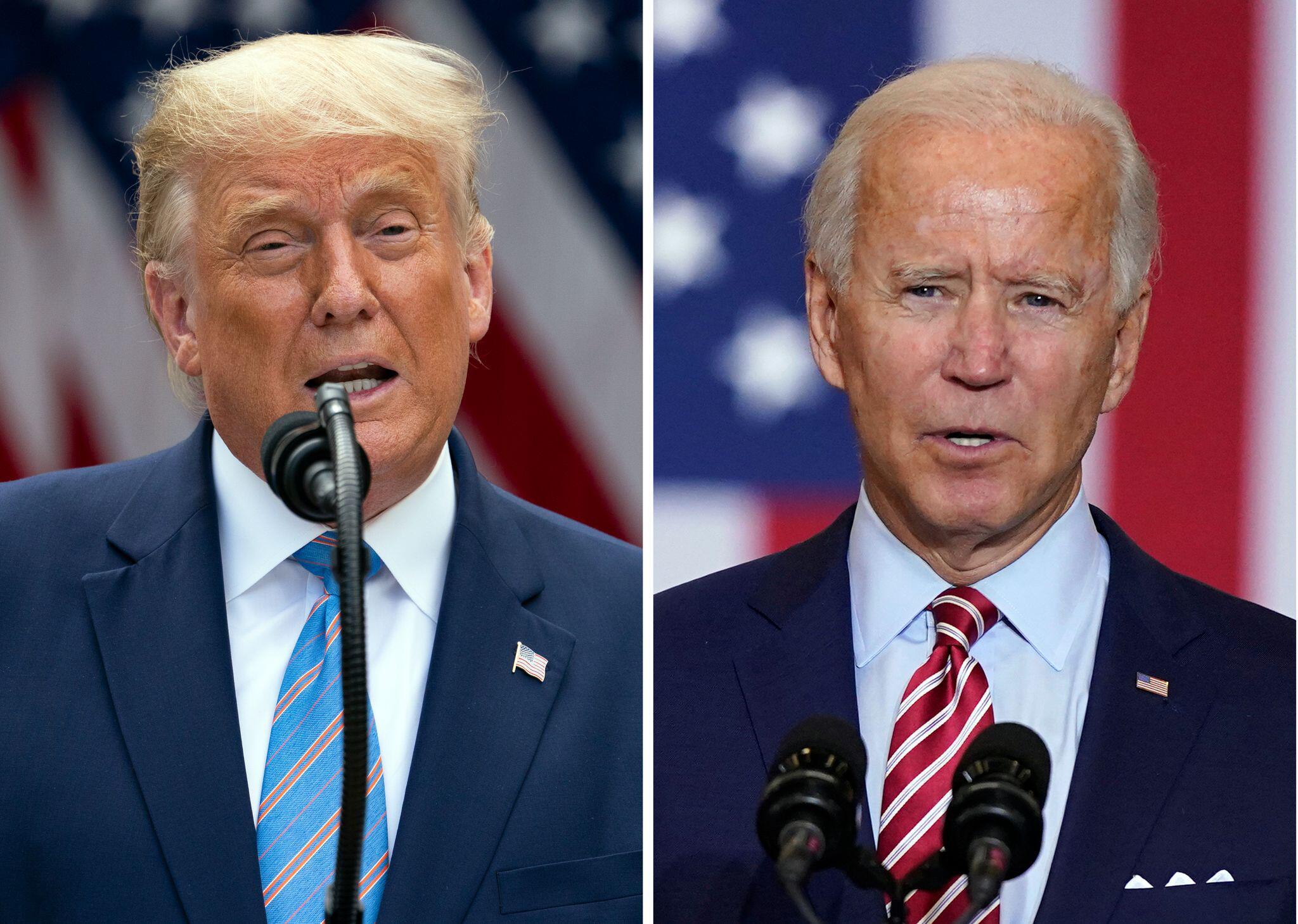 Bild zu US-Wahlen - Donald Trump und Joe Biden