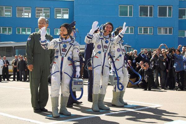 Bild zu Astronauten in Baikonour