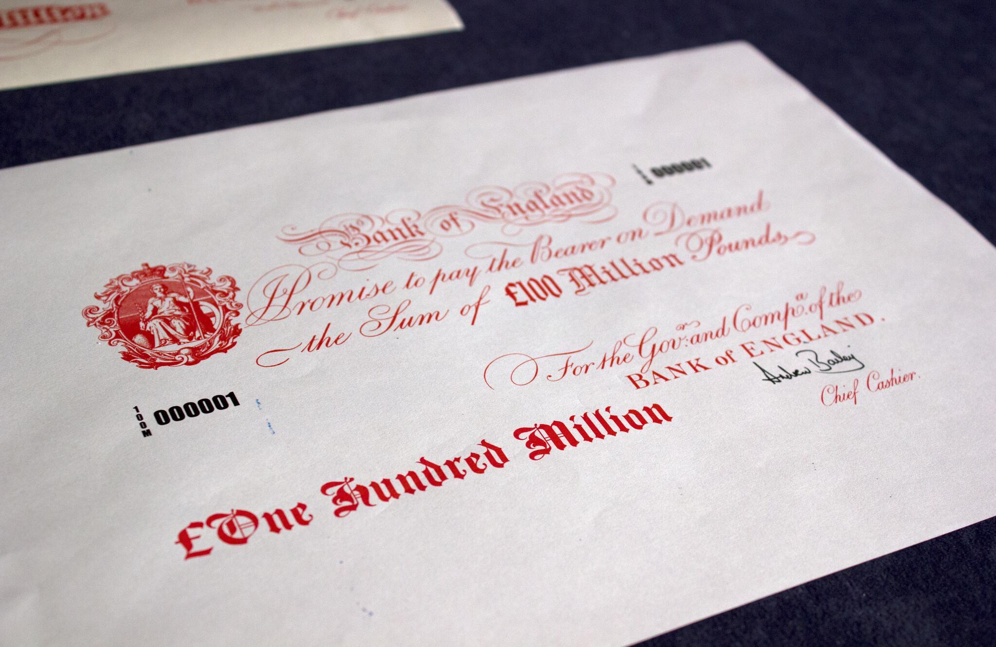Bild zu 100 Millionen Pfund Note
