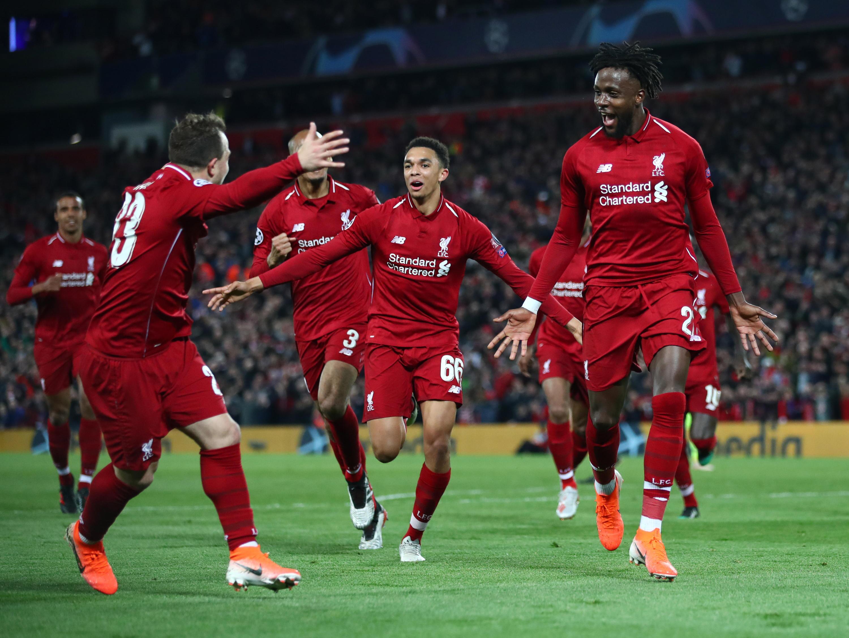 Bild zu FC Liverpool, FC Barcelona, Champions League, Halbfinale, Tor, Jubel, Origi, Arnold, Shaqiri, Matip