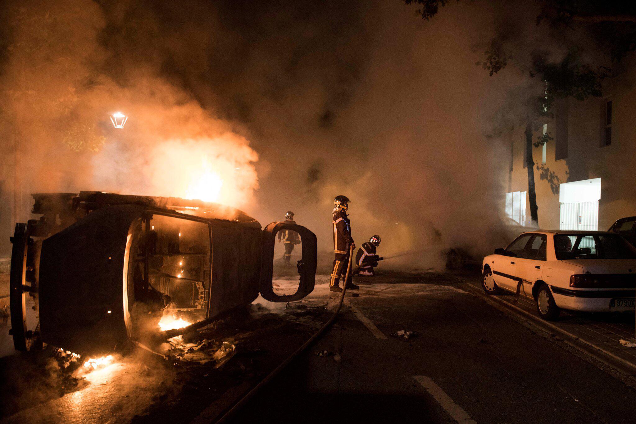 Bild zu Krawalle nach tödlichem Polizeieinsatz in Nantes
