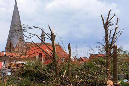 Bild der Verwüstung in Bützow