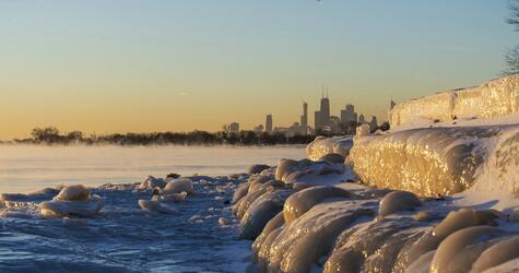 Eisiges Winterwetter in den USA